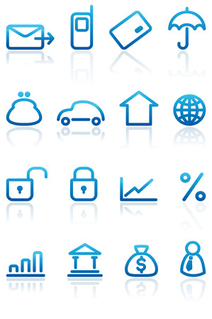 Finance and Banking icons set Stock Vector - 6532200