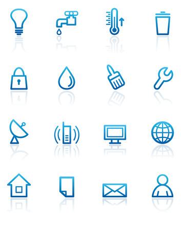 Utilities icons Vector