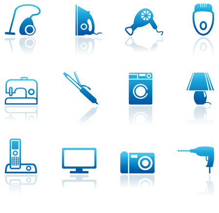 electricals: Home appliances icons