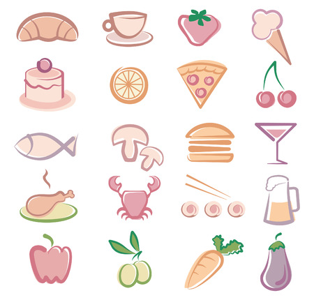 Food icons Stock Vector - 6636132