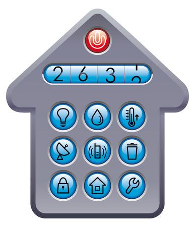 Counter of utilities Stock Vector - 6636140