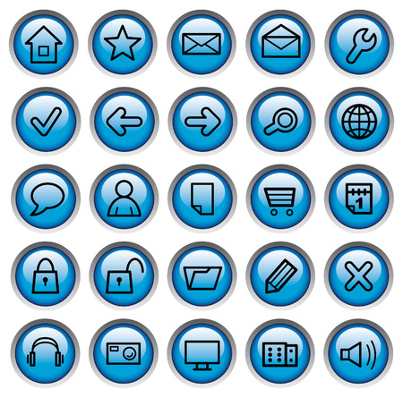 Internet buttons Stock Vector - 6636144