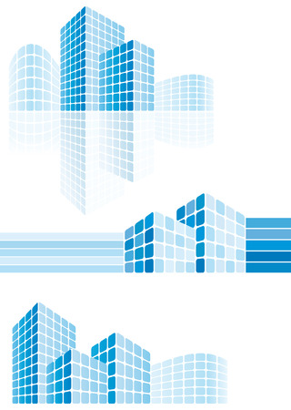 Modern city buildings Stock Vector - 6636192