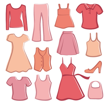Lady's clothes Stock Vector - 6636163