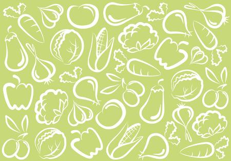 Arrière-plan transparent de légumes Vecteurs