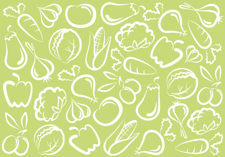 Seamless vegetable background Vector