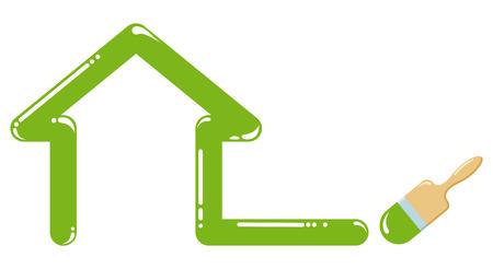 Symbol furnish of buildings Stock Vector - 6636155