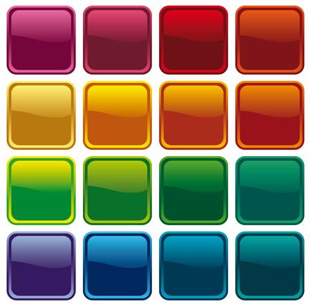 Colour shining buttons Stock Vector - 6636182
