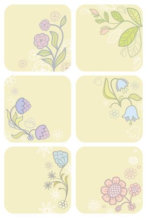 Set flower background Vector