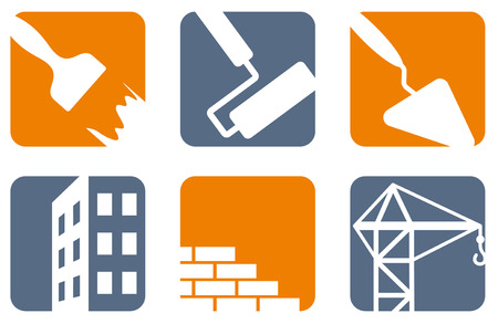 paints: Construction icons Illustration