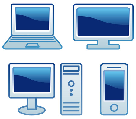 Group of simple electronic objects Vector