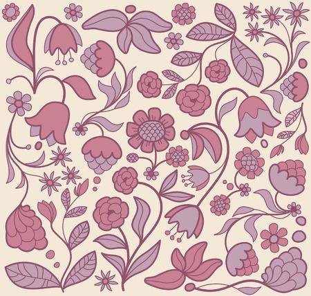 Seamless flower background Stock Vector - 6636175