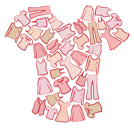 Women's Clothing Stock Vector - 6636186