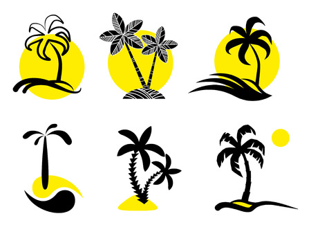 Tropical  icons Stock Vector - 6636254