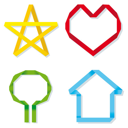 Symbols in style origami
