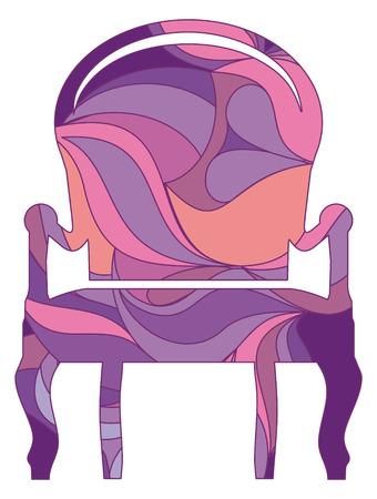 armchair: Classical armchair Illustration