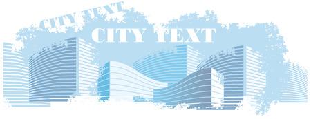 City-Landschaft in schmutzig Stil