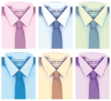 Shirt with tie collection