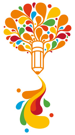 single color image: Creative symbol Illustration