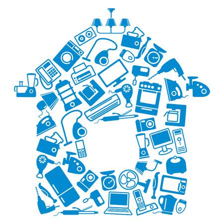 spotřebič: Domácí spotřebiče pro dům Ilustrace