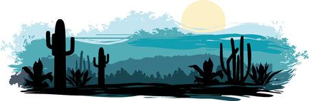 Mexican landscape Vector