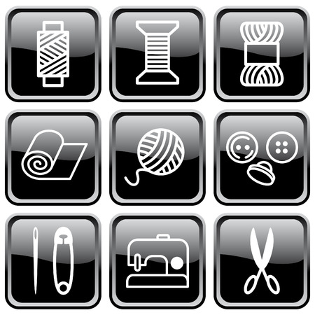 textile industry: Sewing and needlework symbols