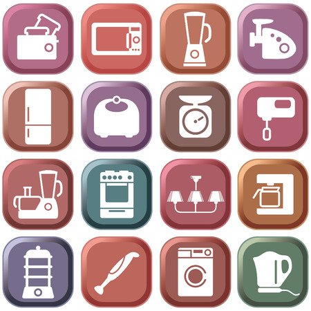Kitchen home appliances Vector