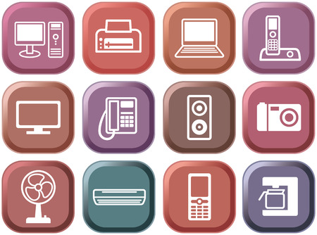 Buttons of office equipment Stock Vector - 6636300