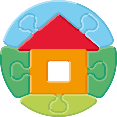 Small house � puzzle Vector