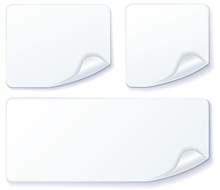 White stickers Stock Vector - 6636255