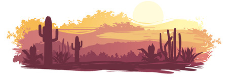 Mexican landscape Vector