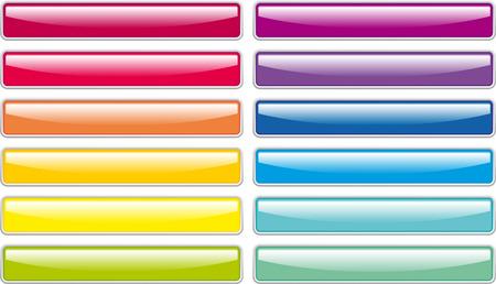 アクアマリン: ガラスボタン  イラスト・ベクター素材
