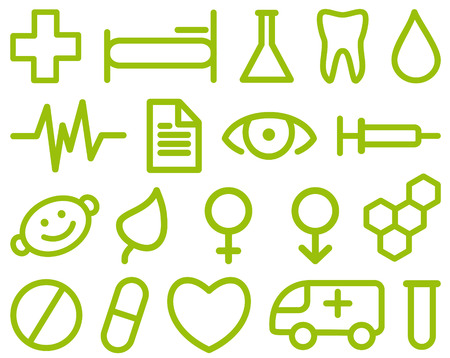 Set of simple medical symbols Stock Vector - 6636230