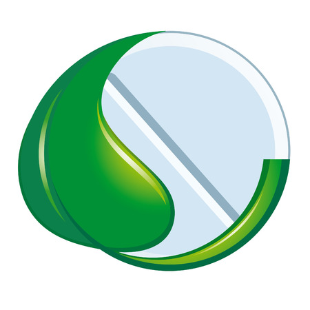 Symbol of natural medicine Vector