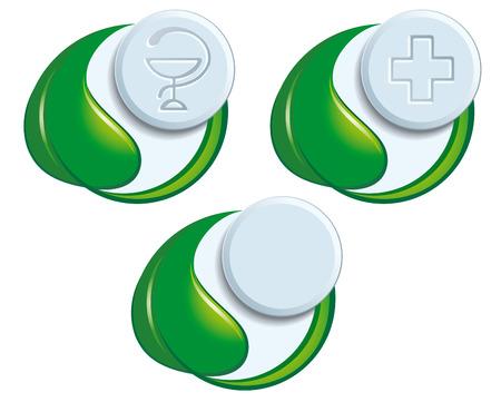 Symbols of natural medicine Vector