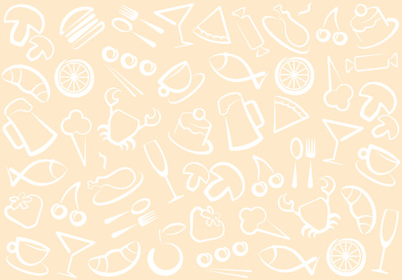 Food and drinks pattern Vector