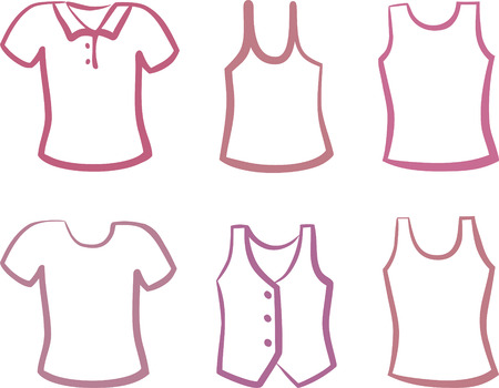 Silhouettes of shirts Stock Vector - 6636347