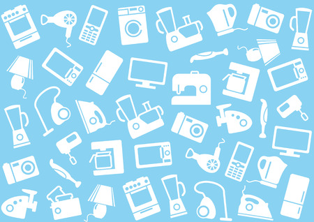 Home appliances a background Vector