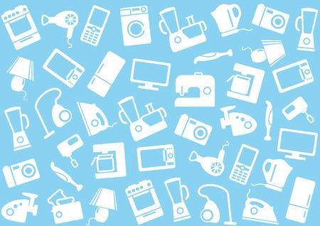 appliances: Home appliances a background Illustration