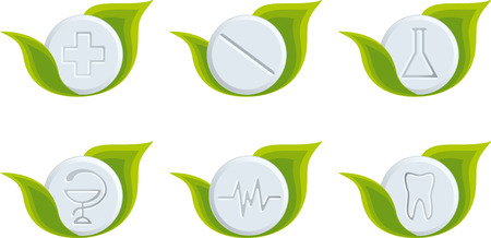 Set of medical symbols Vector