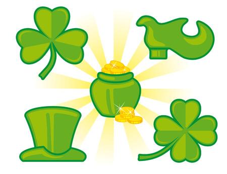 St. Patrick's Day icon set Stock Vector - 6636405