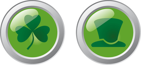 St. Patrick's Day Buttons Stock Vector - 6636359