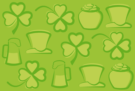 St. Patrick's Day background Stock Vector - 6636376