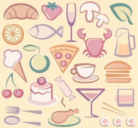 Gıda simgeler Illustration