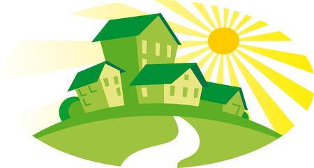 Green houses Vector