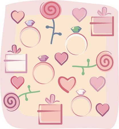 Valentines background Stock Vector - 6636358