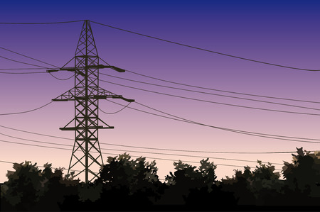 telegraph: Powerlines Illustration