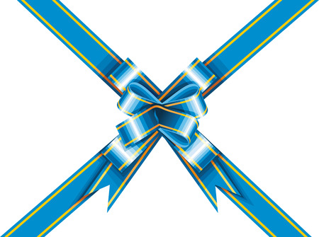 wrapped around: Ribbon and bow wrapped around a rectangle like a present Illustration