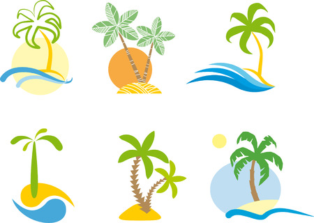Tropical logo  Vector