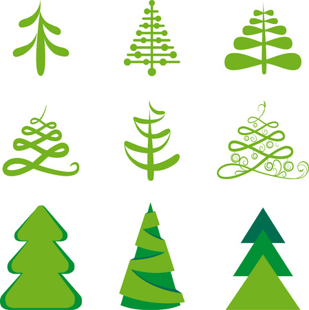 Stylized fur-trees Vector